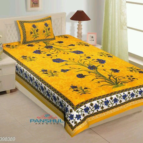 100 % Cotton Abstract Print Single Size Bedsheet