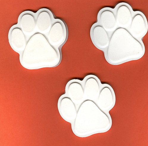 Puppy paws large plaster of Paris painting project!