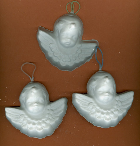 Angel or Cherub w/wings ornaments plaster of Paris painting project!