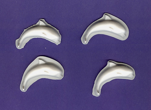 Small Dolphin plaster of Paris painting project.