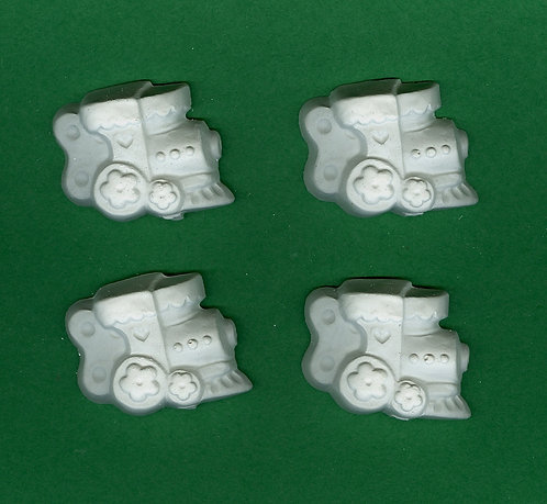 Toy train wind up plaster painting project.