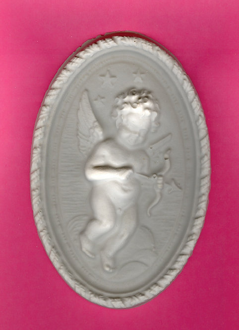 Boy Cupid plaque plaster of Paris painting project.