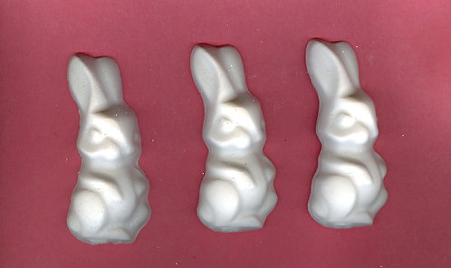 Large bunny plaster of Paris painting project.