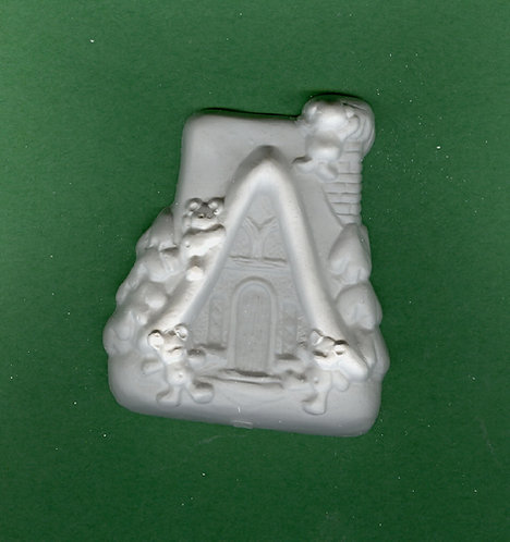 Teddy bear cabin plaster of Paris painting project.