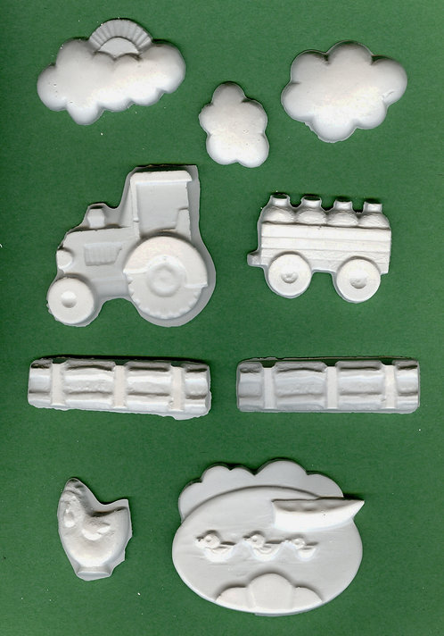 Country scene plaster of Paris painting project.