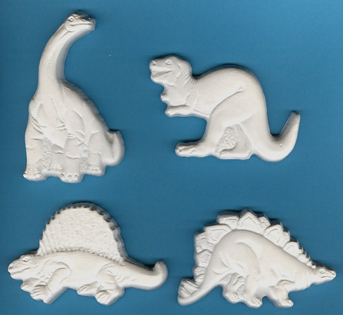 Dinosaurs (Plaster-of-Paris) painting project.