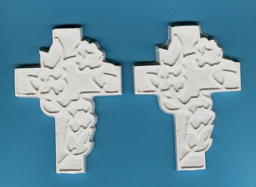 Fancy Cross plaster of paris painting project.