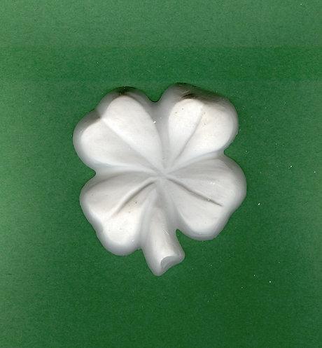 Four leaf clover plaster of Paris painting project.
