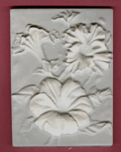 Flower tile #1: Marigold plaster of paris painting project.