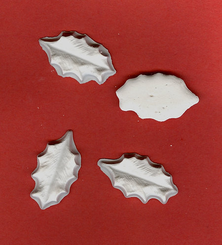 Long leaves plaster of Paris painting project.