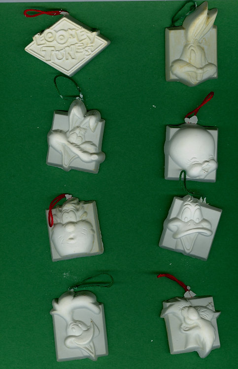 Looney Tunes Characters ornaments plaster of paris painting project.