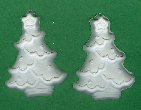 Blanket Christmas trees plaster of Paris painting project.