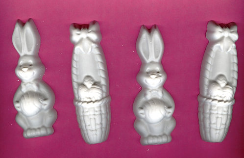 Hoppy Easter stick plaster of Paris painting project.