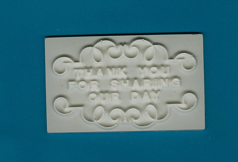 """Thank you for sharing our day"" plaque plaster of Paris painting project."