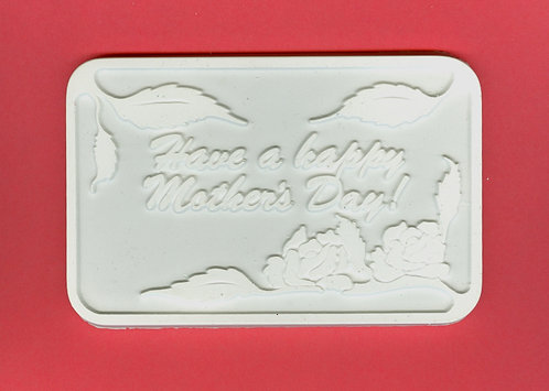 """Have a happy mothers day"" plaque plaster of Paris painting project."