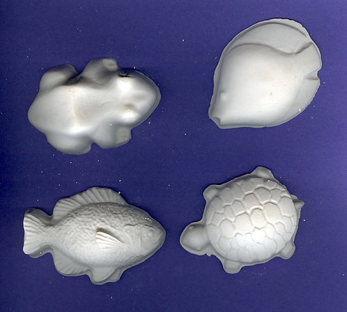 Aquarium animals plaster of Paris painting project.