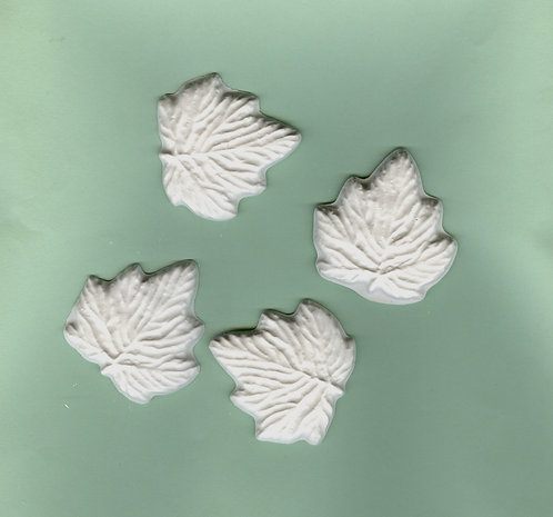 Leaves plaster of Paris painting project.
