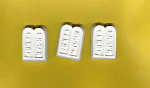 Ten Commandment tablet plaster of Paris painting project.