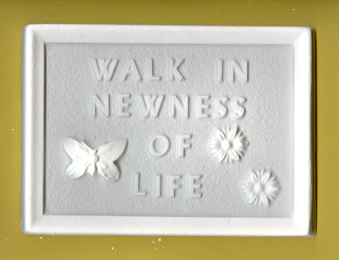 """Walk in newness of life"" plaster of Paris painting project."