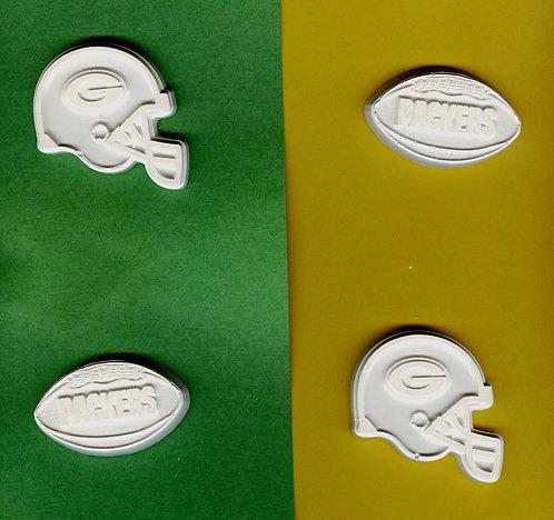 Green Bay Packers helmet & football plaster of Paris painting project.