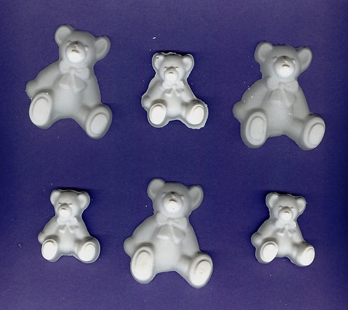 Rag teddy bear mix plaster of Paris painting project.