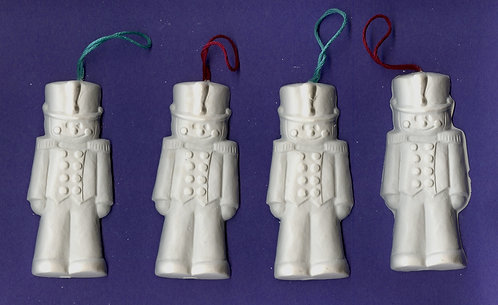 Cute toy soldier ornaments plaster of Paris painting project.