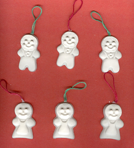 Gingerbread people ornaments plaster of Paris painting project.