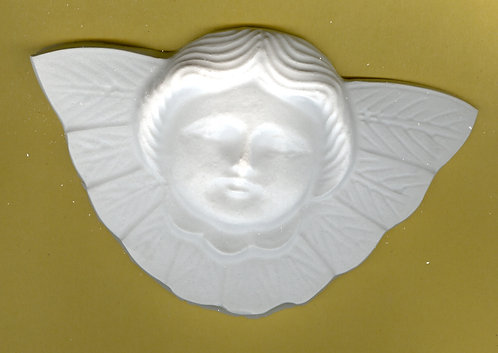 Large Angel head with wings plaster of Paris painting project.