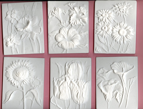 Flower tiles plaster of Paris painting project!