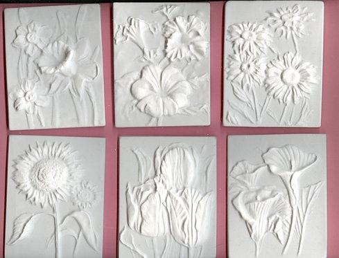 Flower tiles plaster of Paris painting project!