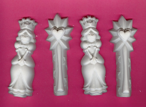 Princess and wand stick plaster of Paris painting project.