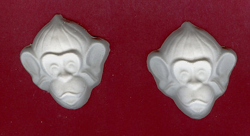 Monkey heads plaster of Paris painting project.