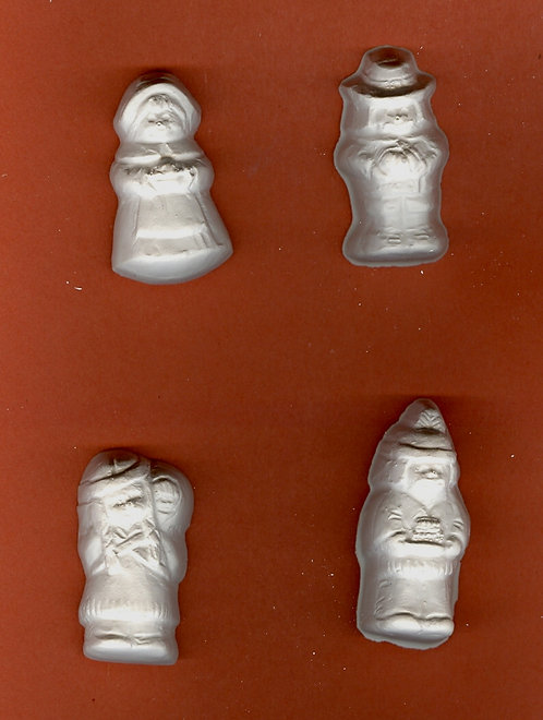 Small Native american and Pilgrims plaster of Paris painting project.