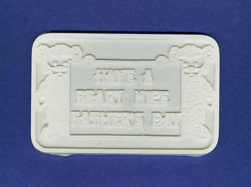"""Have a beary nice fathers day""plaque plaster of Paris painting project."
