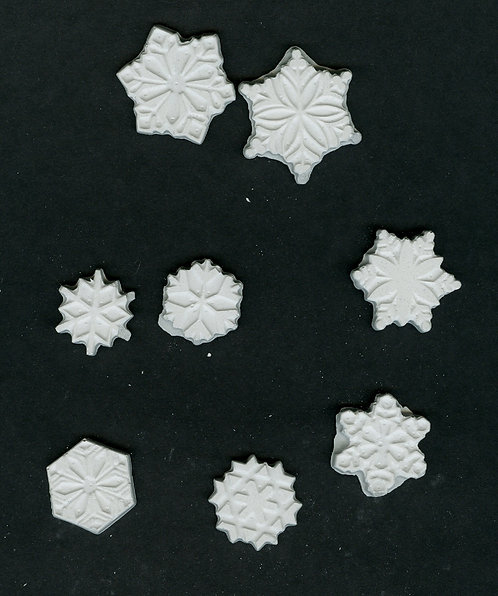 Blizzard of snowflakes plaster of Paris painting project.