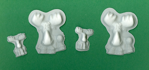 Moose mix sizes plaster of paris painting project.