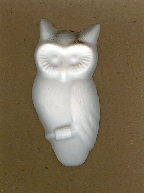 Owl plaster of Paris painting project.