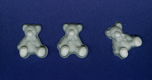 Rag teddy bear small plaster of Paris painting project.