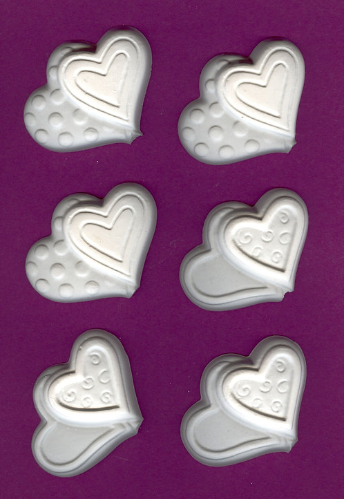 Double heart plaster of Paris painting project.
