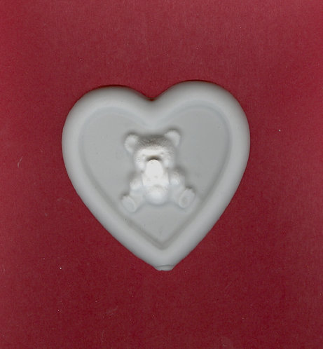Big hearts w/bear plaster of Paris painting project.