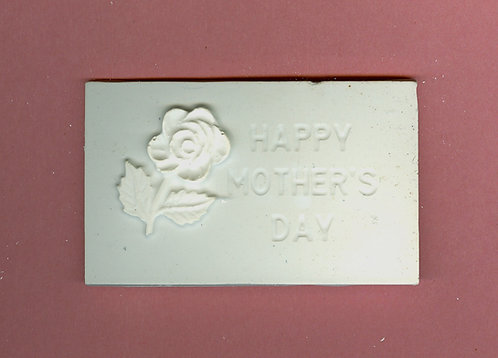 """Happy Mothers day""with rose plaque plaster of Paris painting project."