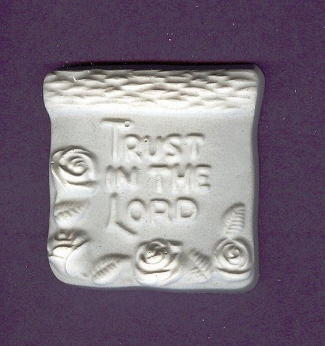 Trust in the Lord plaster of Paris painting project.