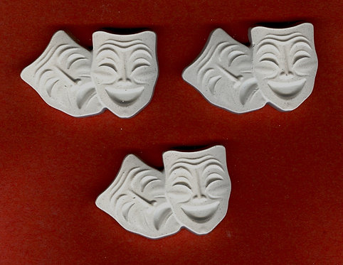 Faces Comedy & Tragedy Mask plaster of paris painting project.