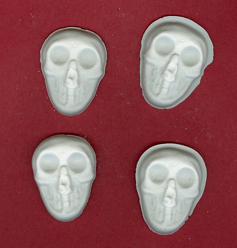 Big eyed skull plaster of Paris painting project.