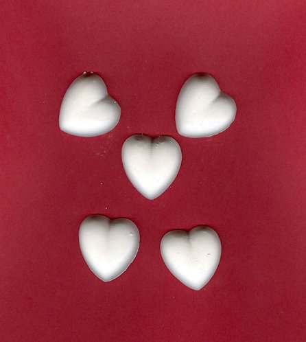 Simple heart  plaster of Paris painting project.