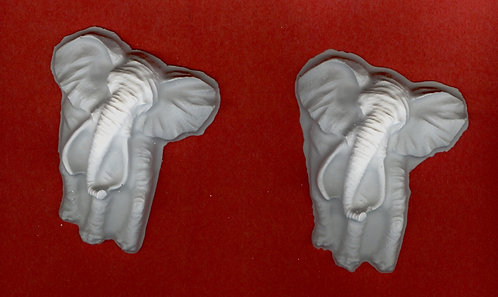 Elephant with tusk plaster of Paris painting project.