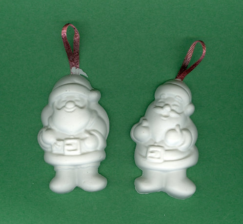 Jolly Santa Clause Ornament plaster of Paris painting project.
