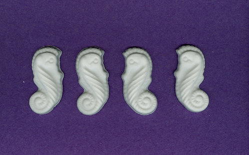 Seahorse plaster of Paris painting project.