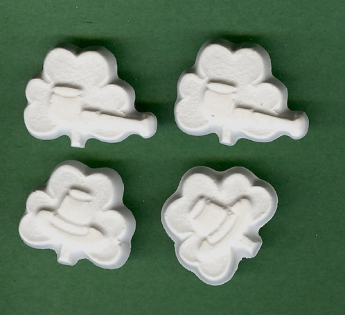 Shamrock w/pipes & hats plaster of Paris painting project.