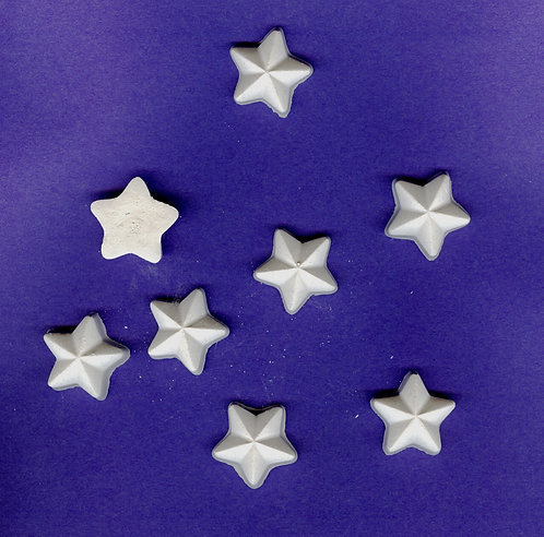 Small star plaster of Paris painting project.
